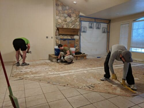 removing carpet flooring