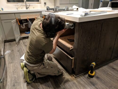 installing kitchen cabinets yourself