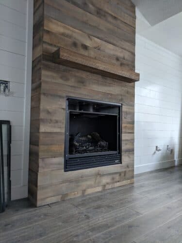 building fireplace