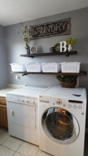 finished laundry room makeover