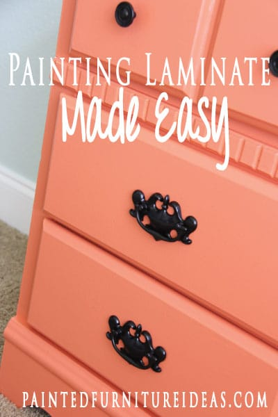 Learn how to paint laminate furniture with a professional finish!