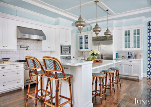 light blue kitchen cottage trend