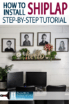 DIY shiplap tutorial that will save you money doing it yourself! Farmhouse look here I come!