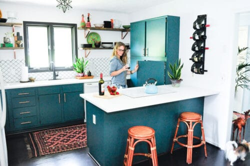 blue kitchen look