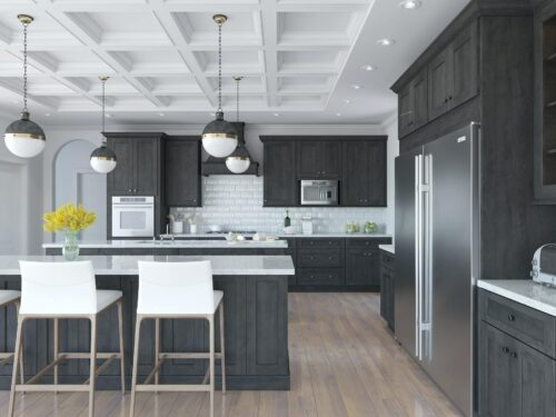 charcoal kitchen color scheme