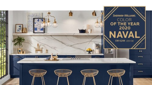 naval blue kitchen