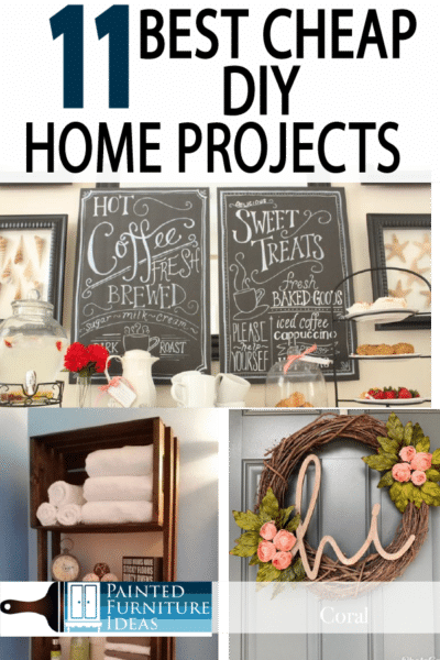 Fun projects taht save money, and don't cost too much. Improve your home decor DIY style!