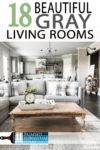 Need gray living room ideas? Gray has taken interior design by storm because it just fits the bill. Check out these beautiful family areas for home decor ideas!