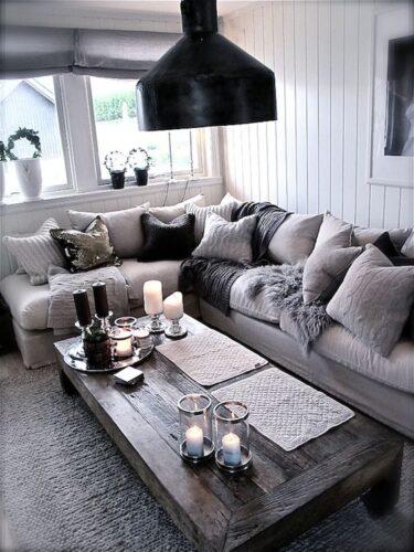 Gray Farmhouse Living Room