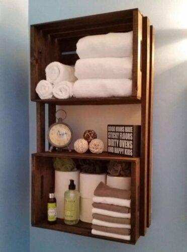 bathroom wall crate