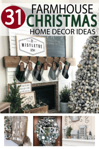 Farmhouse Christmas decor ideas are right here! Decorating is one of my favorite times of the year. I love to pull decorations and ornaments out of boxes and bring the home to life