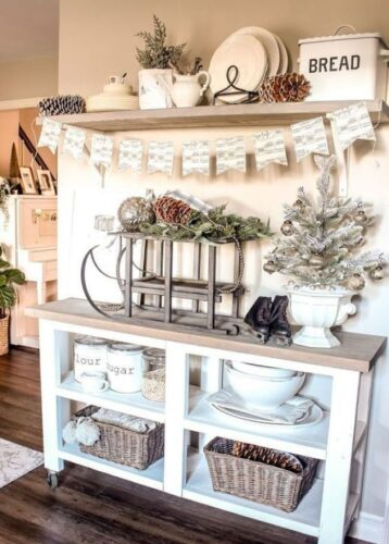 farmhouse christmas kitchen idea