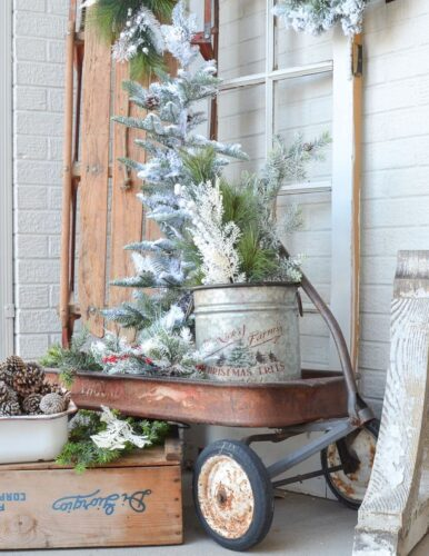FARMHOUSE metal decor christmas