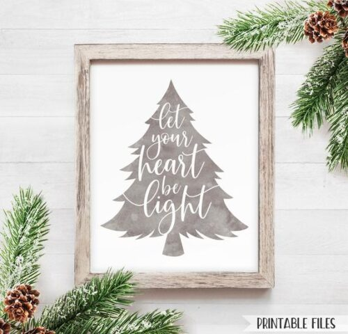 FARMHOUSE christmas tree sign