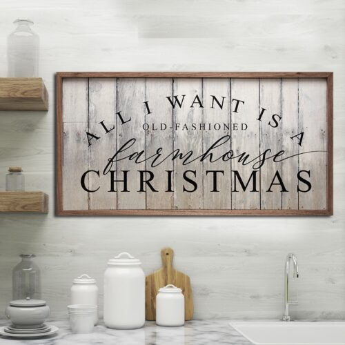FARMHOUSE sign for christmas trees