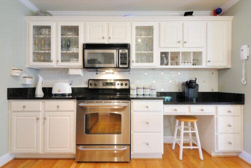 white cabinets