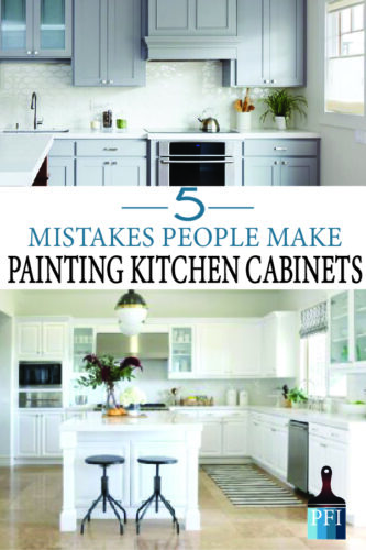 Paint  kitchen cabinets correctly! Avoid these major mistakes while remodeling your kitchen and bath!
