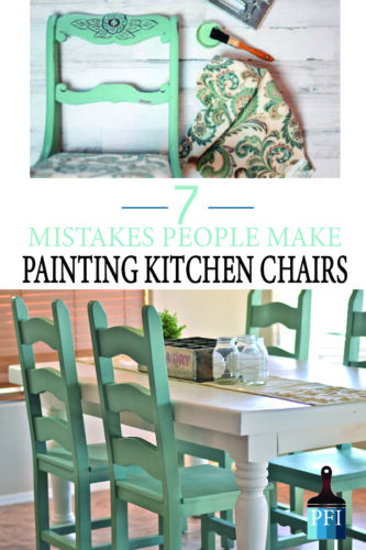 Paint kitchen chairs with a pro by avoiding these common mistakes!