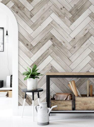wood slabs modern farmhouse wallpaper