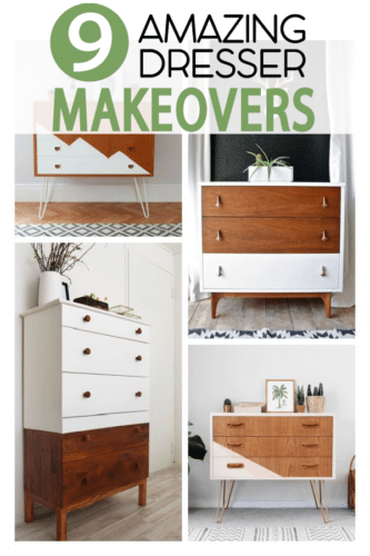 Dressers are also easy to re-paint,..get inspired with these 9 Amazing  painting styles.