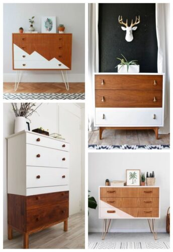 modern dresser makeover