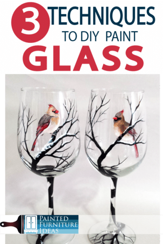 HOW do you paint glass?  Learn 3 different ways!
